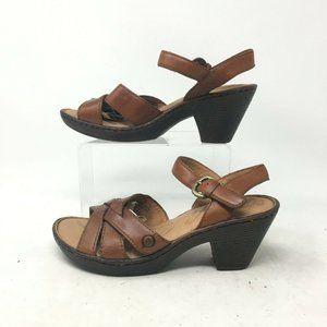 Born Belinda Ankle Slingback Heel Sandal Strappy O